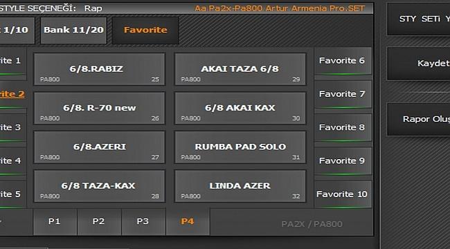 Pa Pa2x-Pa800 Artur Armenia Pro SET