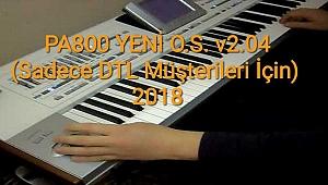 Pa800 YENİ O.S. v2.04 (3x seslerine uyumlu) Sadece DTL Müşterilerine Özel