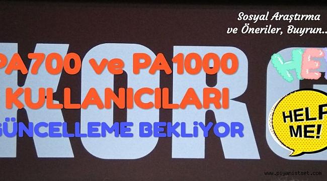 PA700 ve PA1000 KULLANICILARI KİLİTLENME SORUNU İÇİN GÜNCELLEME BEKLİYOR