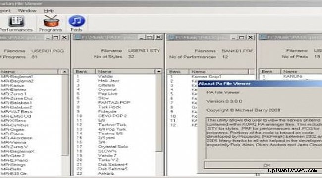 PAL VIEWER - SHOWS SET INSIDE PROGRAM - Set içeriğini görme programı - Free