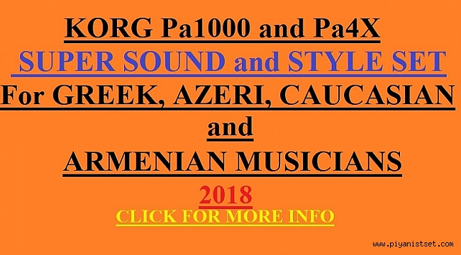 Pa4X-Pa700- Pa1000  SUPER STYLE - SOUND SET (GREEK-ARMENIAN-KAVKAZ (Caucasian)-AZERI)