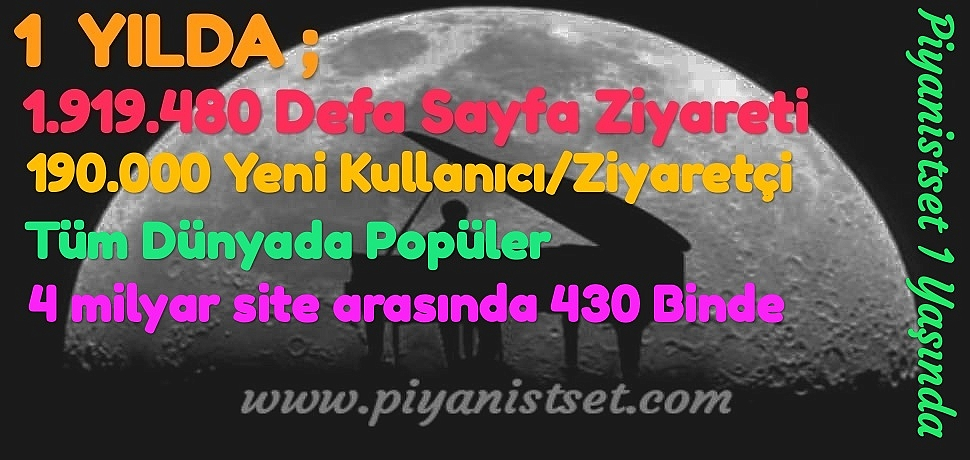Piyanistset.com Bir (1) Yaşında ;)
