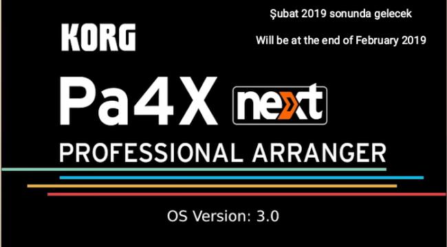 KORG PA4X O.S. NEXT V3