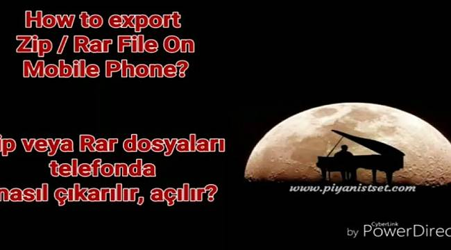 HOW TO EXTRACT RAR / ZIP SET FILE ON MOBILE? *** SET DOSYALARI TELEFONDA RAR VEYA ZIPTEN NASIL ÇIKARTILIR?