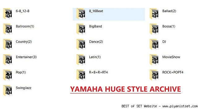 ALL PSR - TYROS - GENOS to Tyros 4 Yamaha Huge Style Archive by Rathmann