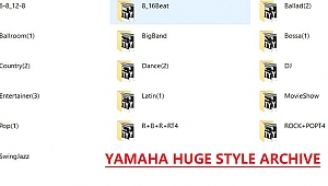 ALL PSR + TYROS + GENOS to Tyros 4 Yamaha Huge Style Archive by Rathmann