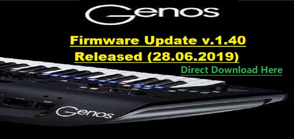 GENOS UPDATE V. 1.40 RELEASED (28.06.2019)