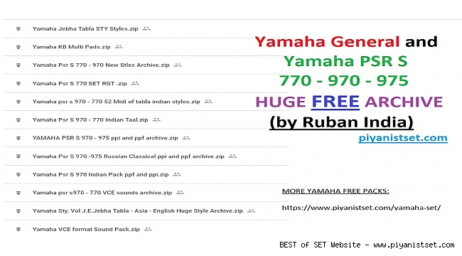 Yamaha General and Yamaha PSR S 770-970-975 HUGE FREE ARCHIVE - DOWNLOAD