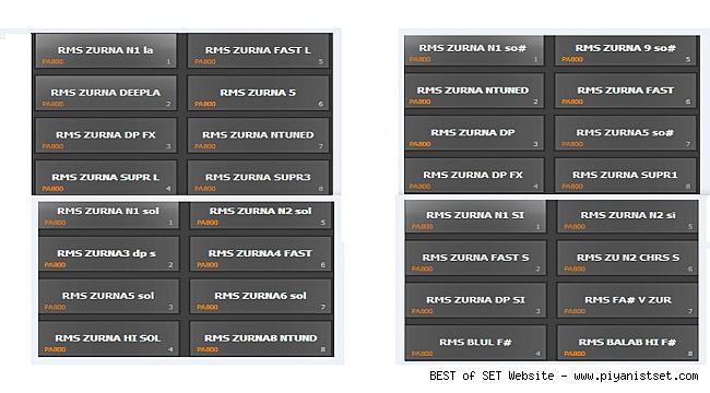KORG PA2X - PA800 ZURNA FULL SET (FREE DOWNLOAD)