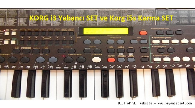 KORG i3 Yabancı SET ve Korg i5s Karma SET İndir-Download