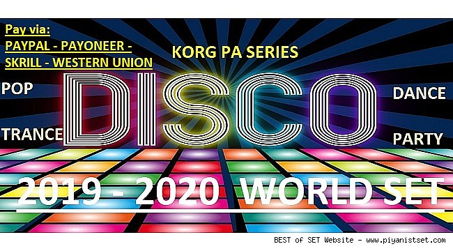 KORG Pa Series Disco-Dance-Party 2019-2020 Set (Demo) (Via Paypall, Payoneer and WU)