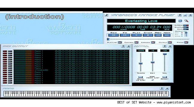VanBasco's Professional Midi + Karaoke Player Program (Demo + Download)