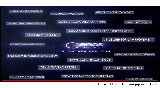 Yamaha Genos V 2.0 15th November 2019