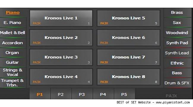 Pa900 ve Üstü Seriler İçin Eşsiz Kronos Karma Mix Sound SET (192 mb) Buradan İndir -Download Here