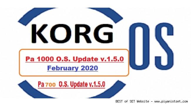 Korg Pa1000 - Pa700 O.S. Update 1.5.0 Released - Pa1000 ve Pa700 Yeni Güncelleme 1.5.0