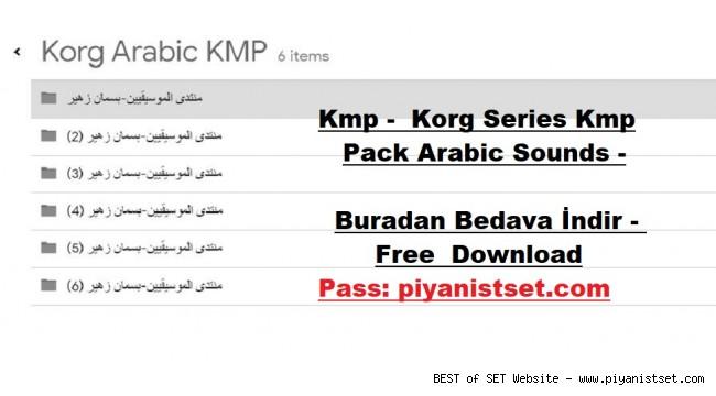 Korg Kmp - Series Kmp Pack Arabic Sounds - Buradan Bedava İndir - Free Download Here