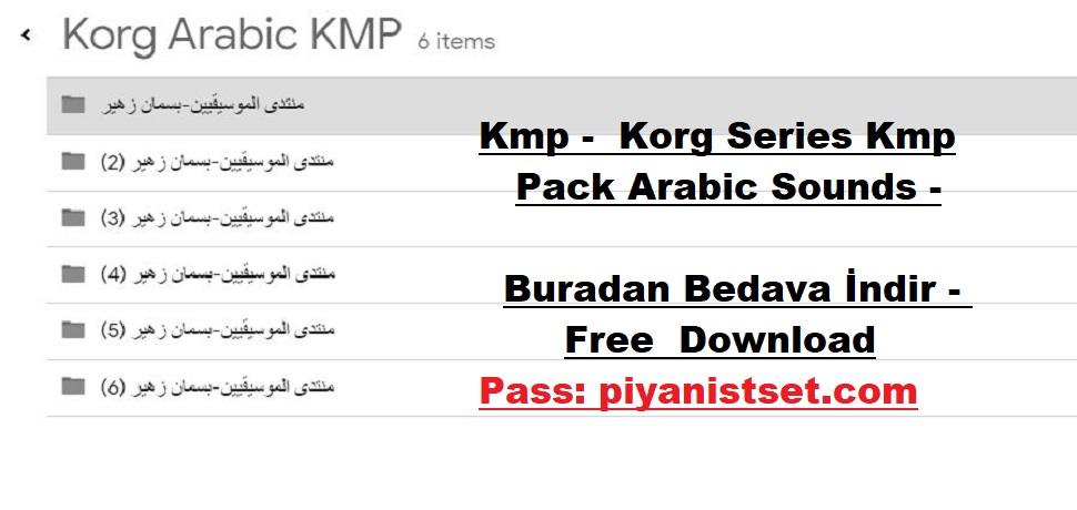 Kmp - Korg Series Kmp Pack Arabic Sounds - Buradan Bedava İndir - Free Download Here