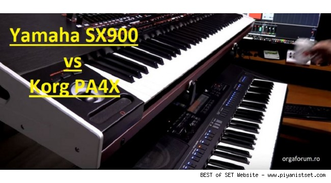 Korg Pa4x vs Yamaha PSR Sx900 Comparison Sound and Styles