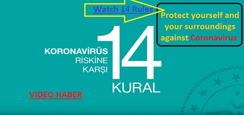 Koronovirüse Karşı 14 Kural