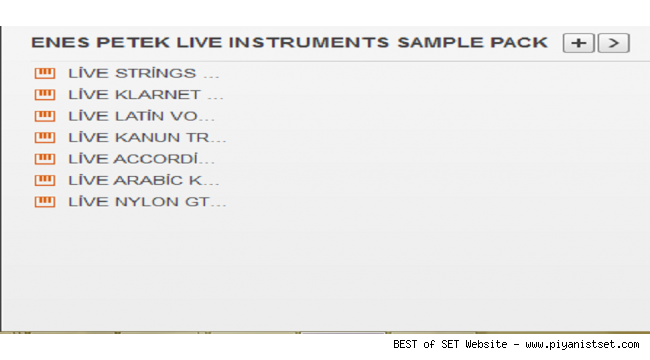 Yamaha A3000 - GENOS Enes Live Instruments Sample Pack-2 (2018) Buradan Bedava İndir - Free Download Here