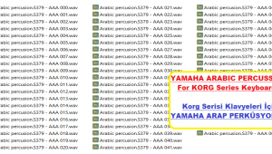 Yamaha Arabic Percussions For Korg Series Keyboards - Buradan Bedava İndir - Free Download Here