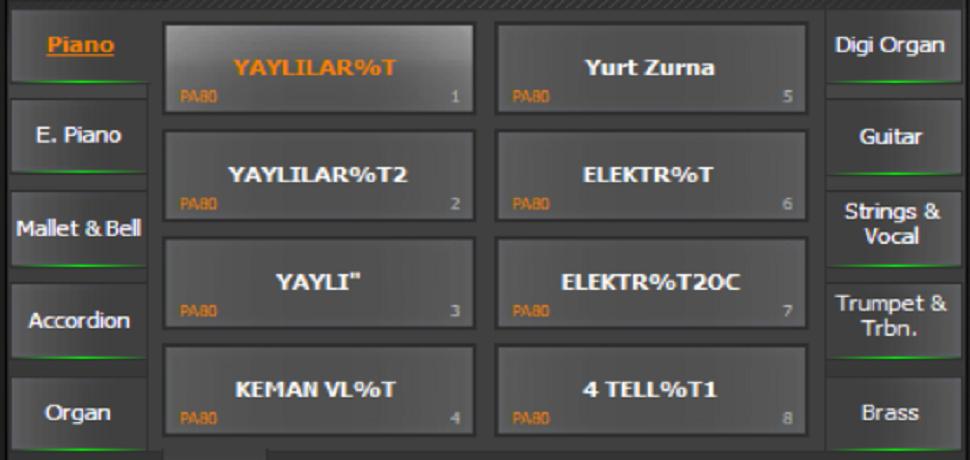 Korg Pa80 Türker Kart .CRD ve.SET - Buradan Bedava İndir - Free Download Here
