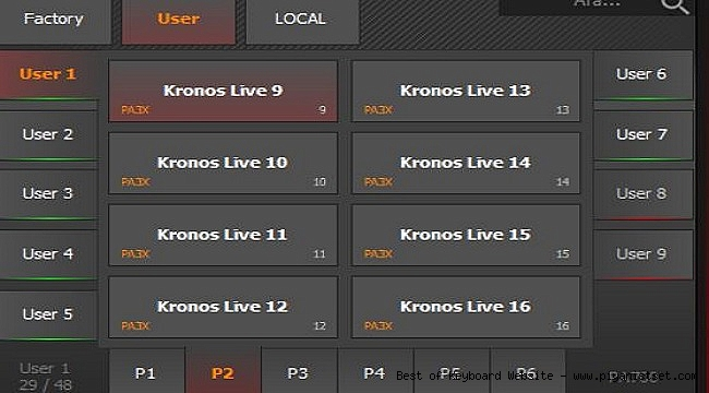 Korg Pa700 Yaylı Zurna Kaval Baglama Klarnet vb. Sound Performance Set - İndir - Download
