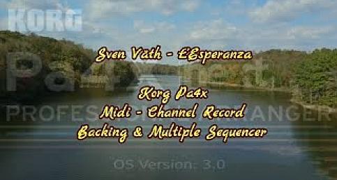 Sven Väth - L'Esperanza - Korg Pa4x Midi & Mp3 Channel Record