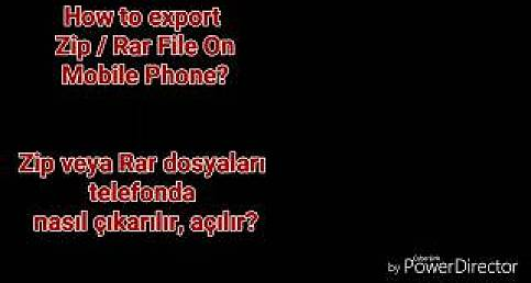 WINRAR / WINZIP ON MOBILE ** TELEFONDA RAR ve ZİP İŞLEMİ