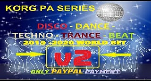 KORG Pa Series Disco - Dance -Techno - Trance - Beat 2019-2020 Set (Demo) V2