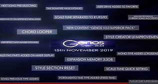 Yamaha Genos V 2.0 Release Date 15th. November 2019