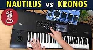 Korg Nautilus Review vs. Kronos - Tutorial including the new arp and drum sequencers
